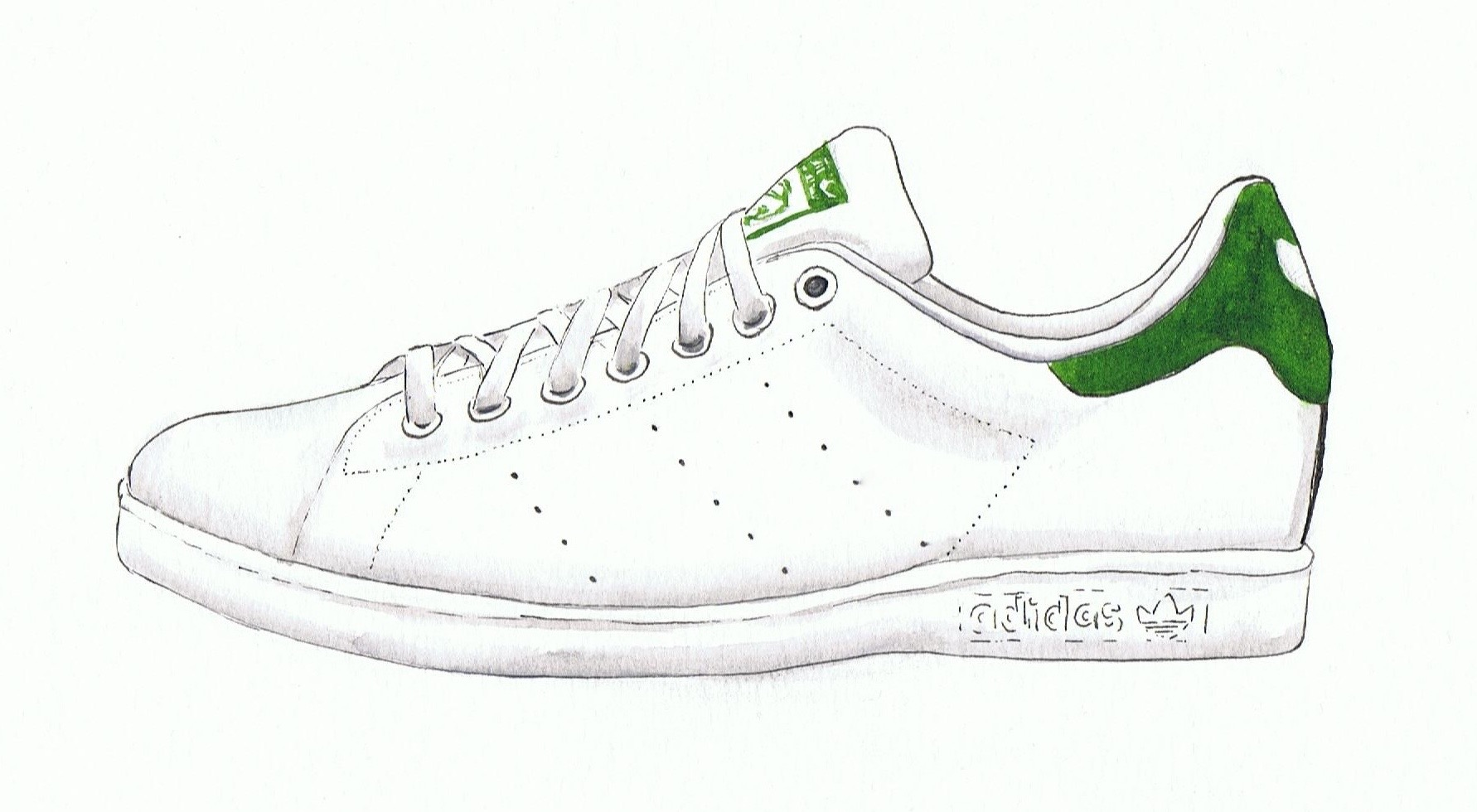 Drawn shoe illustrated Smith stan  Stan Smith