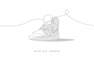 Drawn shoe illustrated 1 001 With jordan Iconic