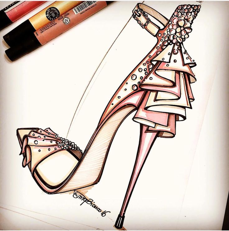 Drawn shoe illustrated 25+ on Illustrates more ❥