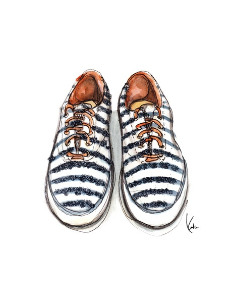 Drawn shoe illustrated 25+ on Best Shoe Keds