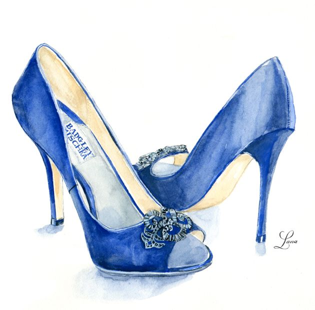 Drawn shoe illustrated Shoes Lana's Fashion Illustration Shop
