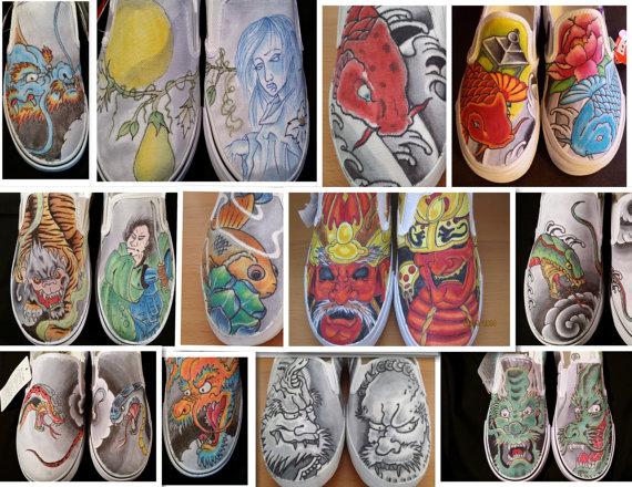 Drawn shoe japanese Japanese tattoo Japanese dragons and