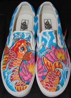Drawn shoe japanese Sneakers by Koi 00 Hand