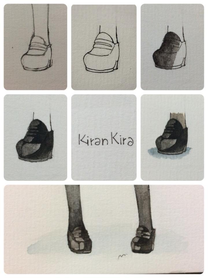 Drawn shoe japanese CaptainHarrie and Hand Etc girls