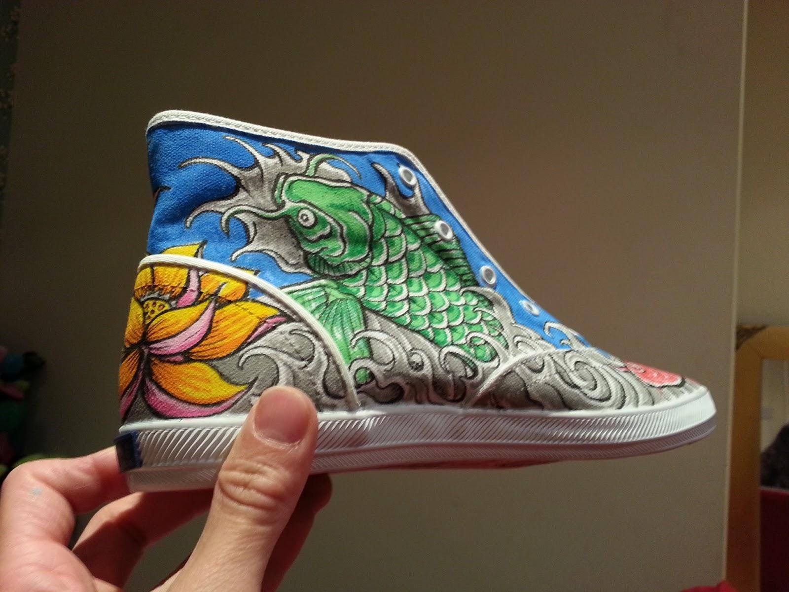 Drawn shoe japanese The so Art: are koi