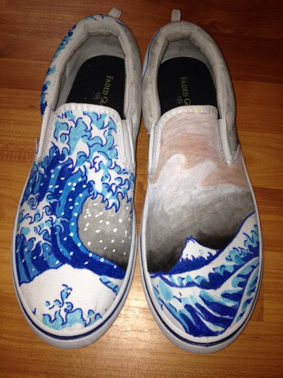 Drawn shoe japanese Japanese Etsy on Look wave
