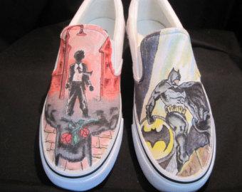 Drawn shoe japanese Custom Custom fish drawn Shoes