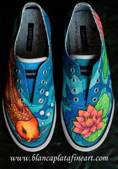 Drawn shoe japanese Sneakers ideas shoes Best koi