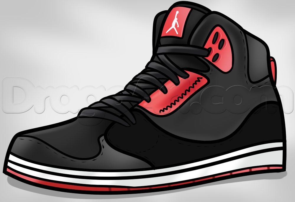Drawn shoe jordan 1 Step how to  Pop