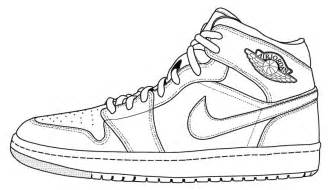 Drawn shoe jordan 1 Air Go Pros! coloring Shoe