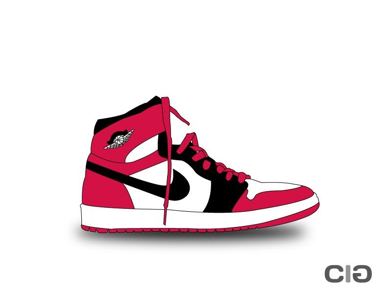 Drawn shoe jordan 1 Or Shoe so month