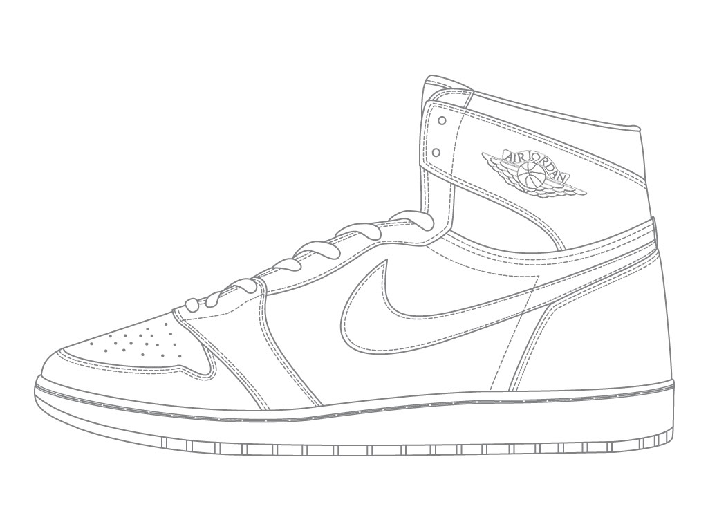 Drawn shoe jordan 1  air 2 jordan drawing