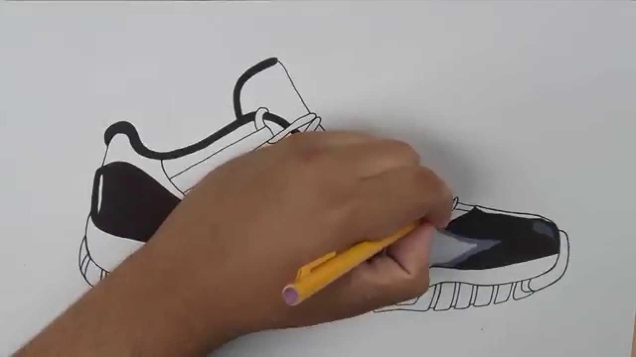 Drawn shoe jordan 11 To Downloadable Low  Concord