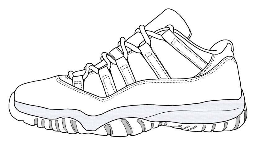 Drawn shoe jordan 11 Color net #18655 Michael Cool