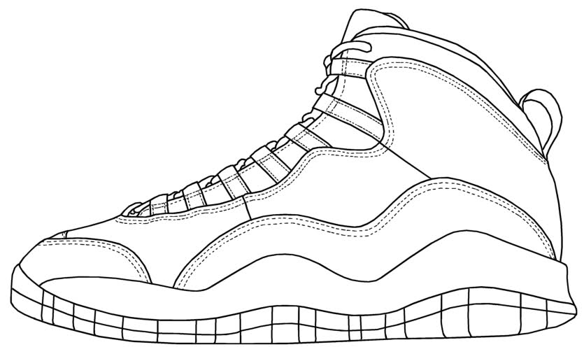 Drawn shoe jordan 11 Coloring Coloring Page · Jordan