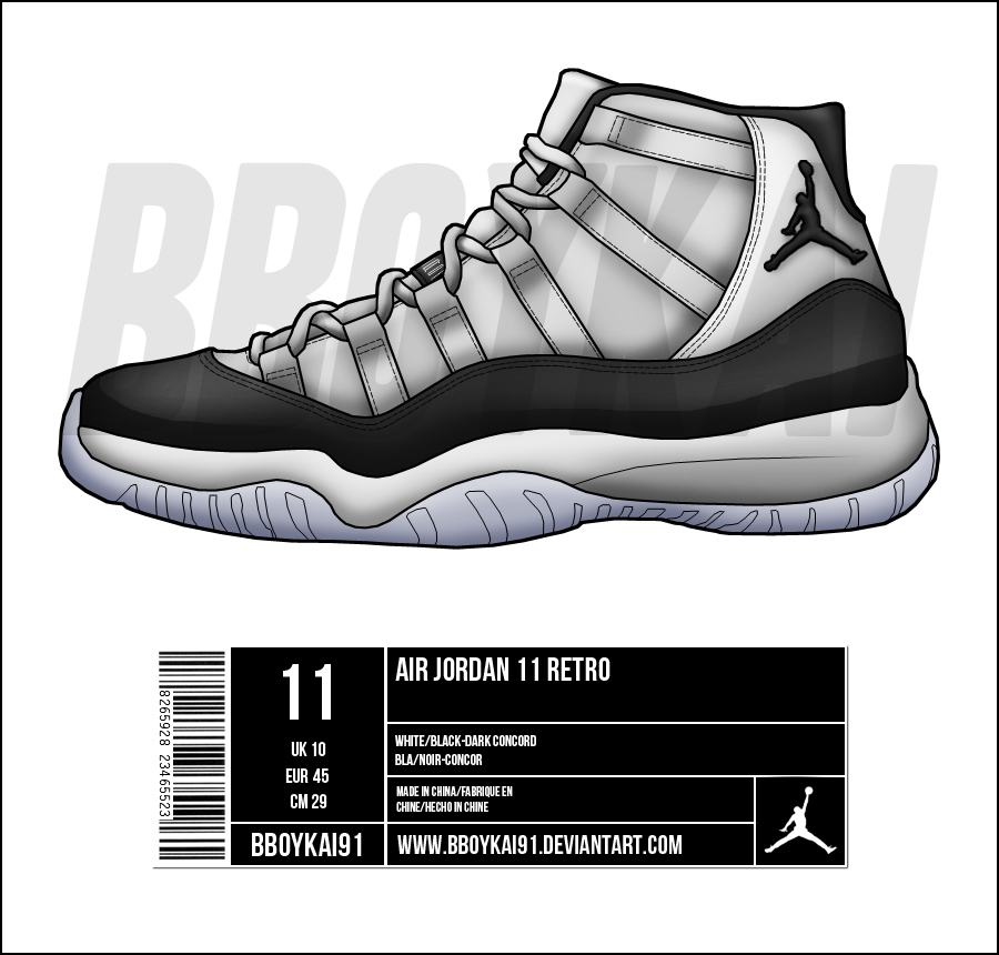 Drawn shoe jordan 11 11 11 BBoyKai91 'Concord' Air