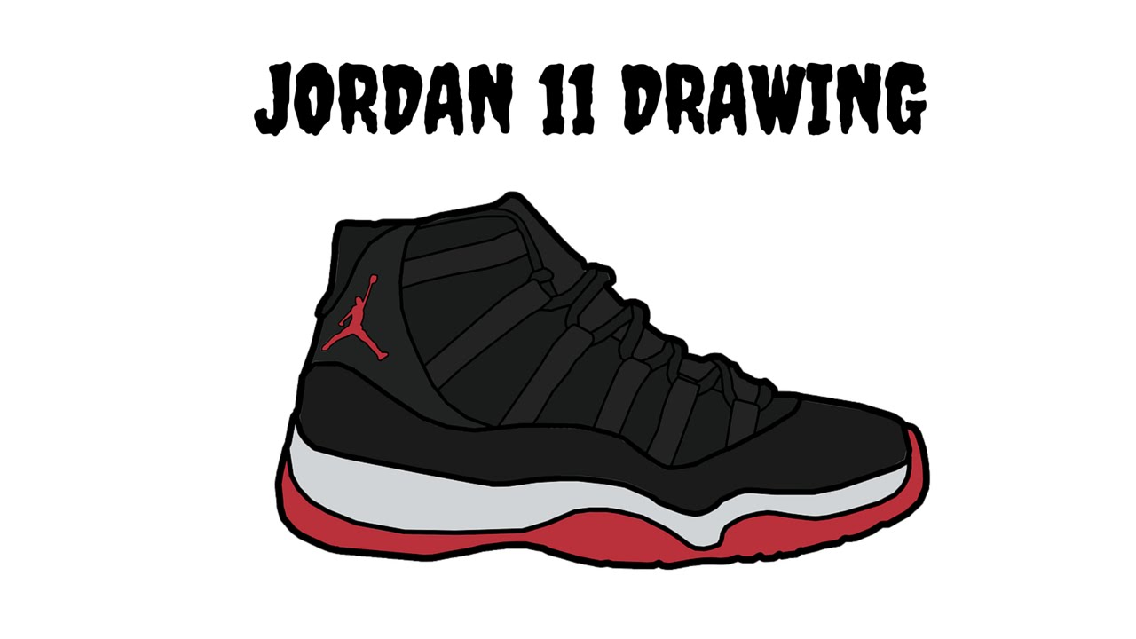 Drawn shoe jordan 11 11 YouTube  DRAWING JORDAN
