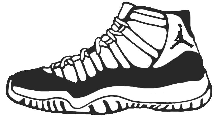 Drawn shoe jordan 11 Shoes Shoe Colouring Coloring Pages