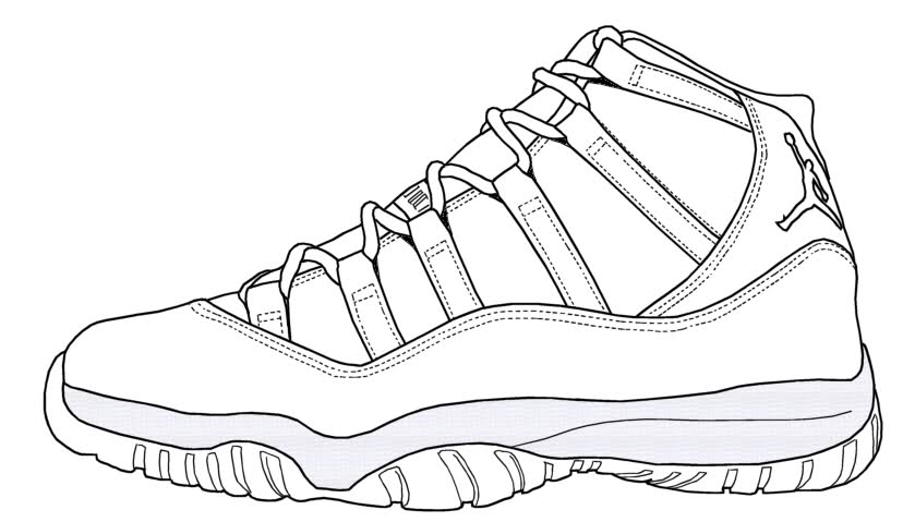 Drawn shoe jordan 11 SneakerTemplates City Download Queen Restorations