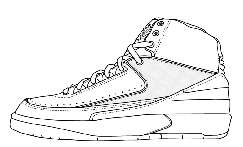 Drawn shoe jordan 3 File SneakerTemplates Download Restorations City