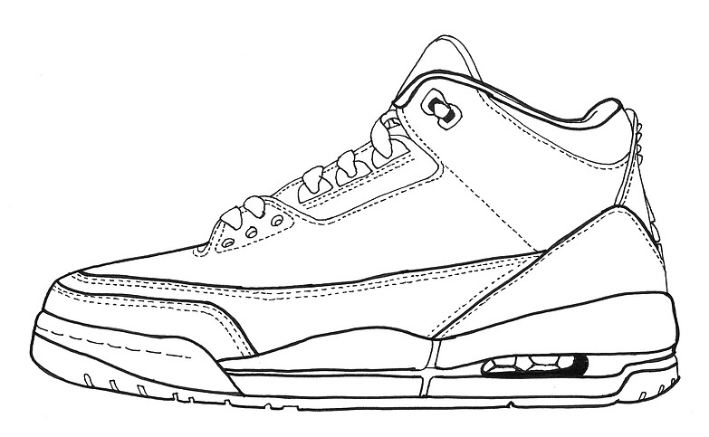 Drawn shoe jordan 3 For jordan drawing jordan beginners