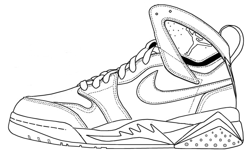 Drawn shoe jordan 5  Shoes Coloring Coloring Jordans
