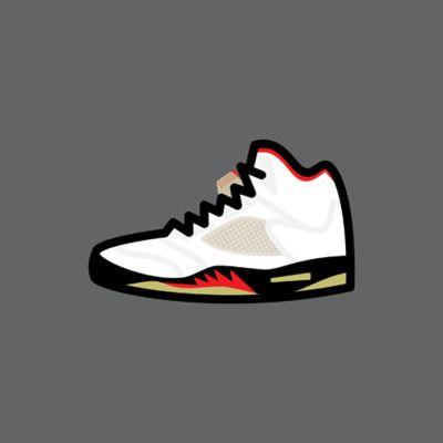 Drawn shoe jordan 5 #6