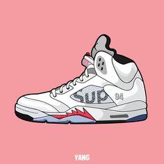 Drawn shoe jordan 5 #15