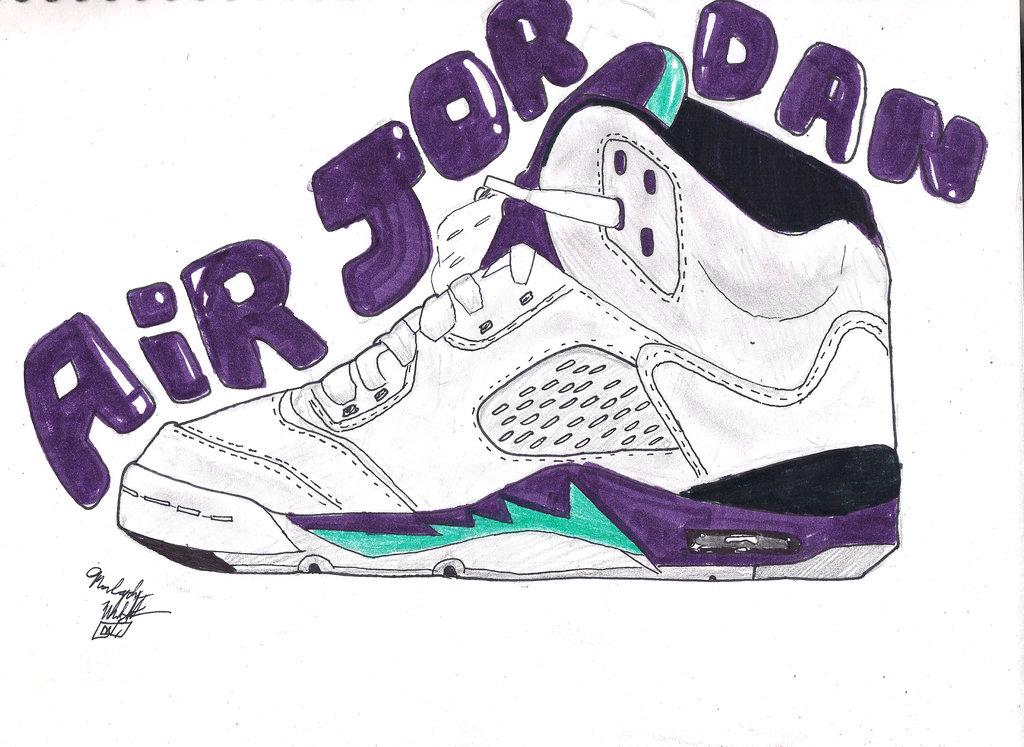 Drawn shoe jordan 5 #12