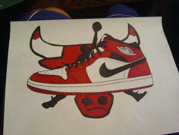 Drawn shoe jordan 5 #5