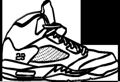 Drawn shoe jordan 5 #10