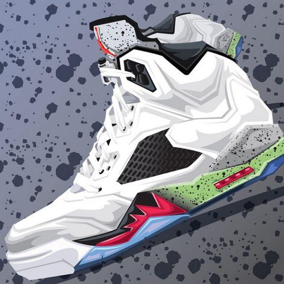 Drawn shoe jordan 5 #14