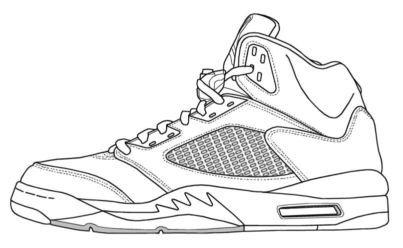 Drawn shoe jordan 5 #2