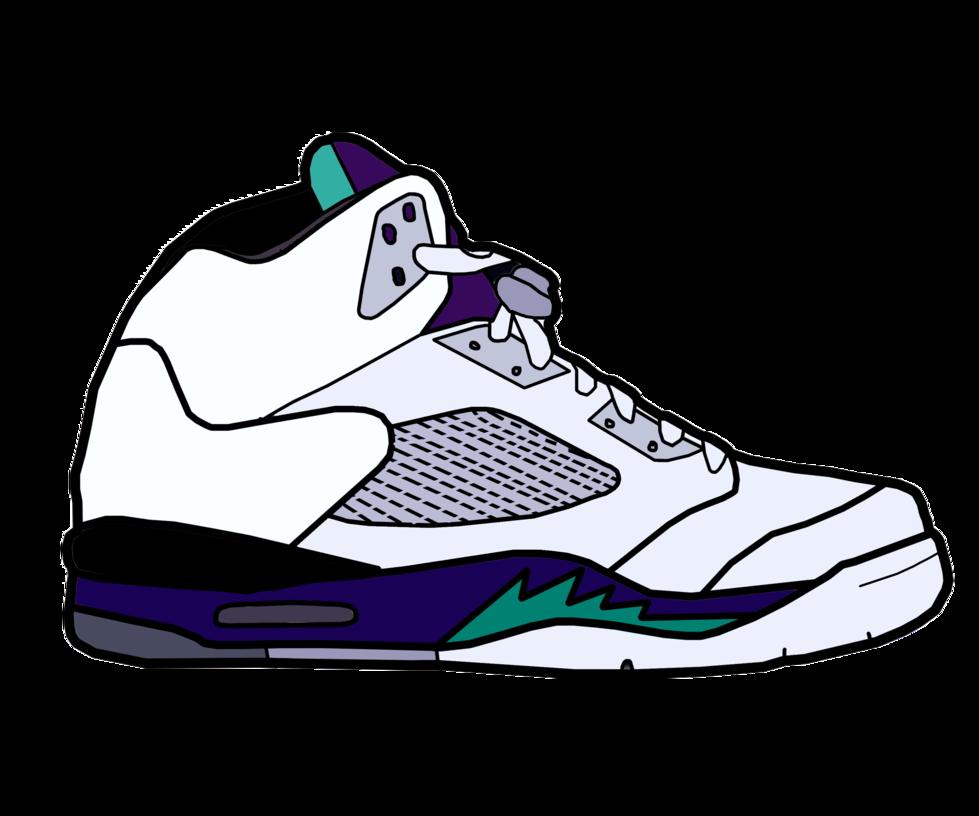 Drawn shoe jordan 5 #4