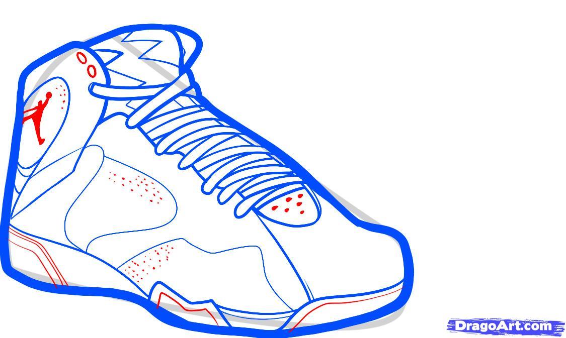 Drawn shoe jordan 5 #7