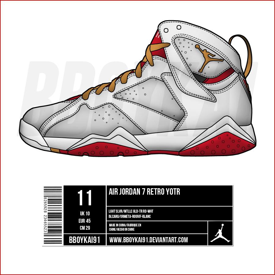 Drawn shoe jordan 7 13 jordan drawing  d3knd91;