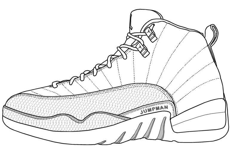 Drawn sneakers jordan 3 Air [[ Dimension Templates Forum