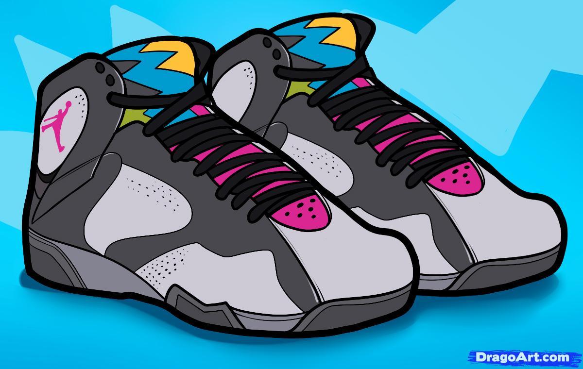 Drawn shoe jordan 7 By  Jordan air bordeaux