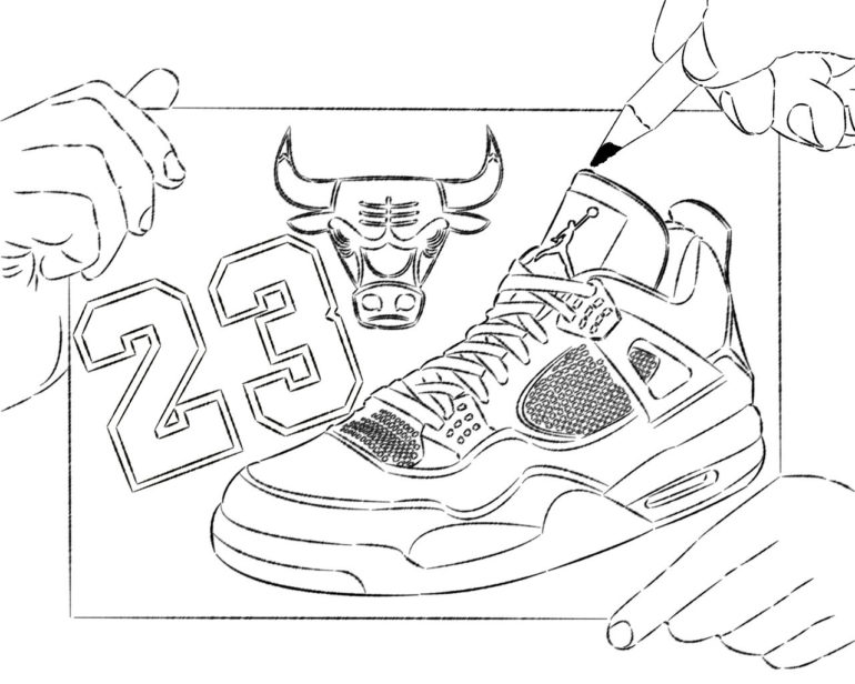 Drawn shoe jordan retro Pages ·  Art Clip