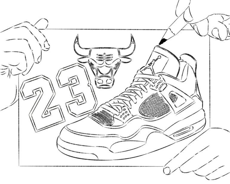 Drawn shoe jordan retro  Art Clip Jordan Retro