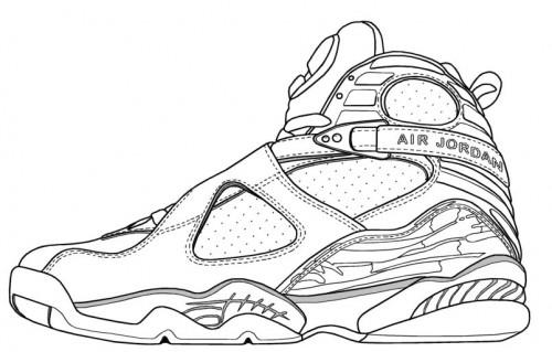 Drawn shoe jordan retro Pages Coloring Art  Jordan