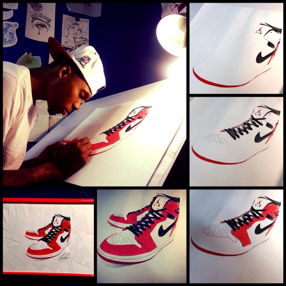 Drawn shoe jordan retro Retro Drawing DeviantArt Drawing MontyKVirge