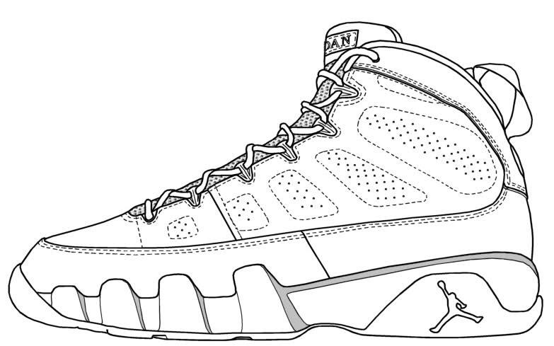 Drawn shoe jordan retro White drawing jordan  to