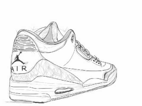 Drawn shoe jordan retro Air  3 Jordan YouTube