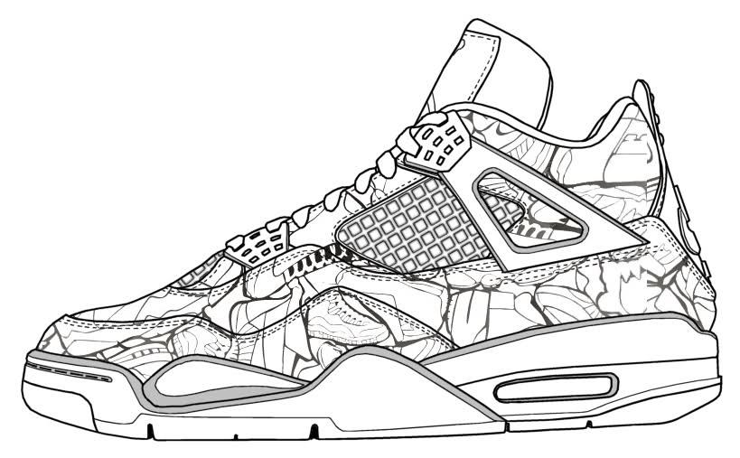 Drawn shoe jordan retro White 11  jordan air