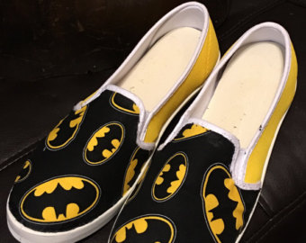 Drawn shoe justice league Shoes Etsy Batman shoes! Batman