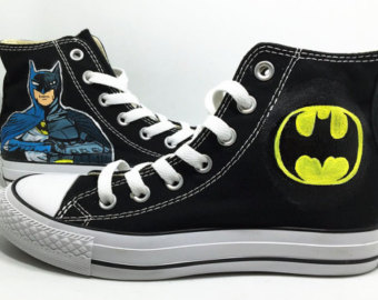 Drawn shoe justice league Shoes Etsy  Harley quinn