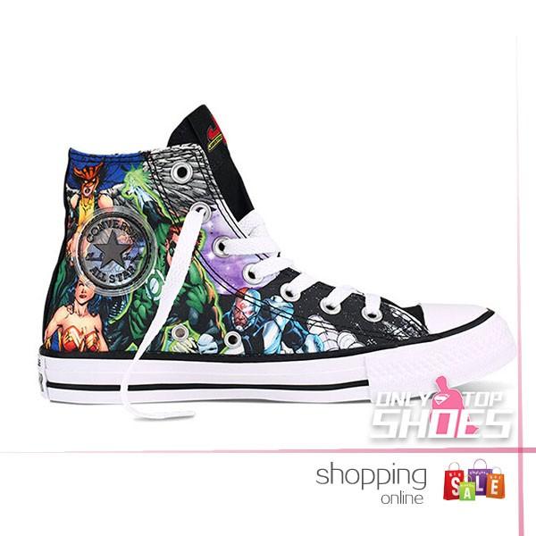 Drawn shoe justice league Com shoeswiz the comics chuck