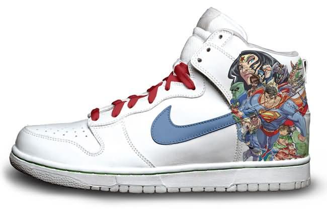 Drawn shoe justice league Designed com nike Mind shoeswiz