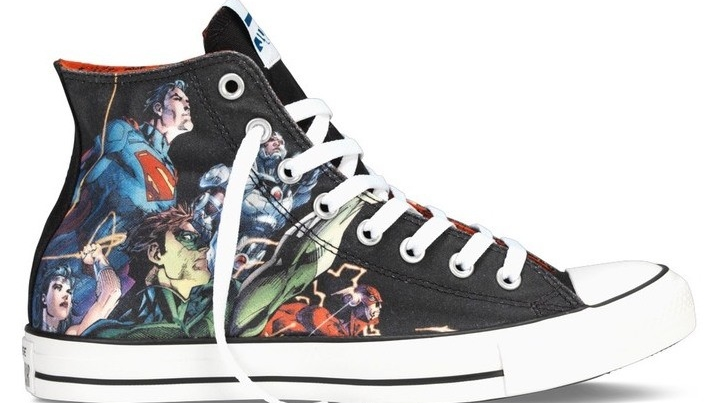 Drawn shoe justice league Star Shoes Chuck Collection